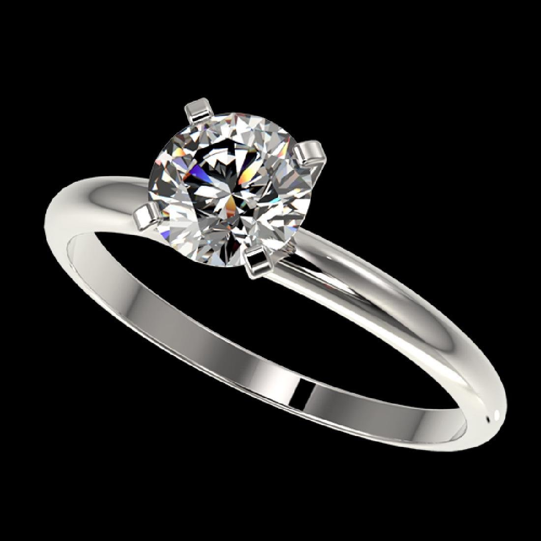1.07 CTW Certified H-SI/I Quality Diamond Solitaire