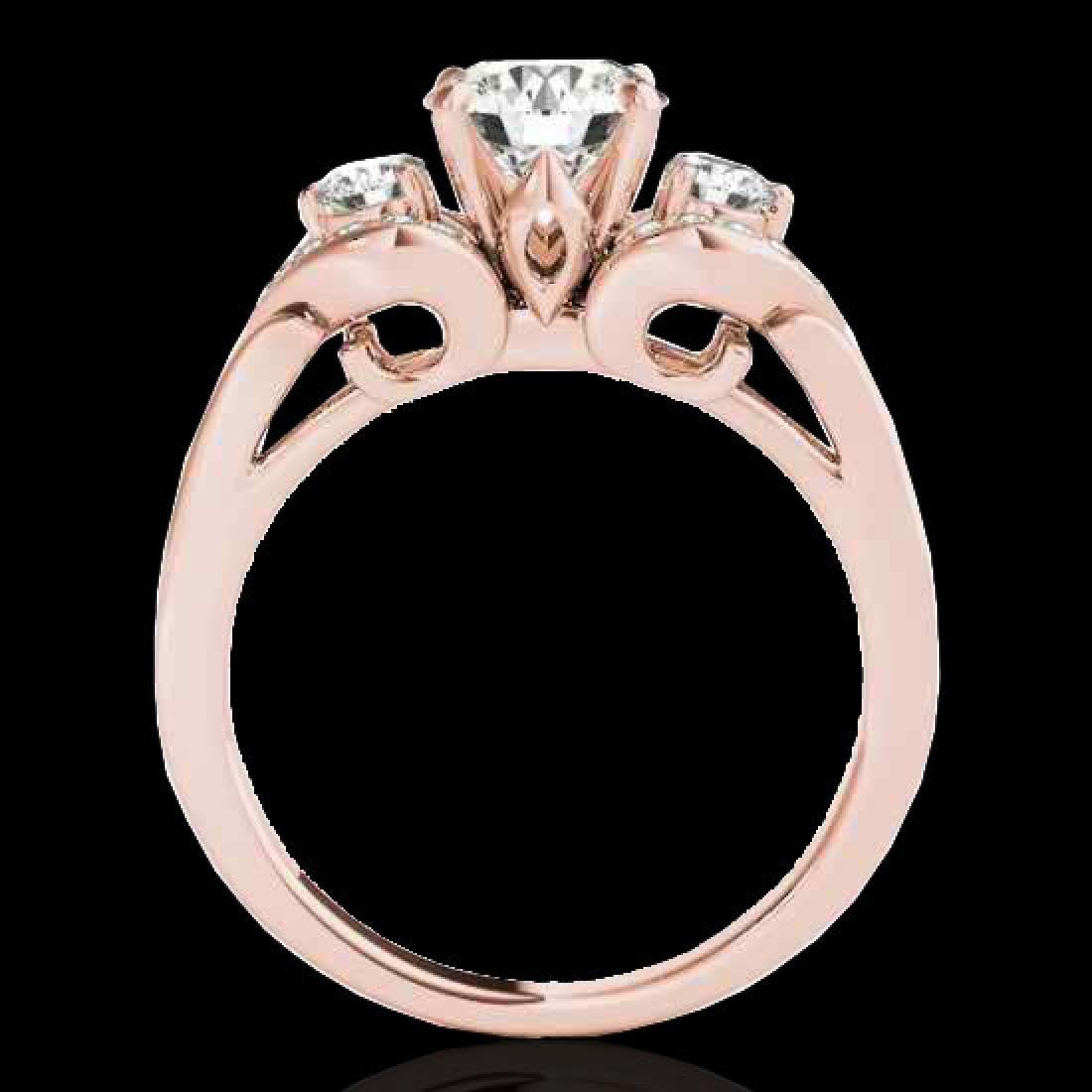 1.7 CTW H-SI/I Certified Diamond 3 Stone Solitaire Ring - 2