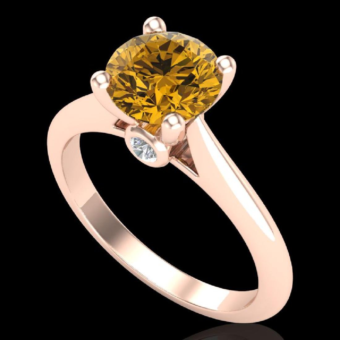1.6 CTW Intense Fancy Yellow Diamond Engagement Art