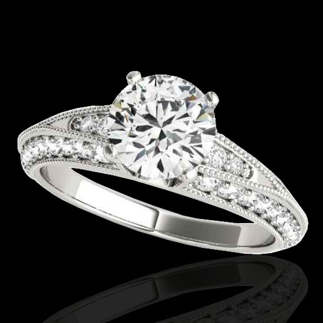1.58 CTW H-SI/I Certified Diamond Solitaire Antique