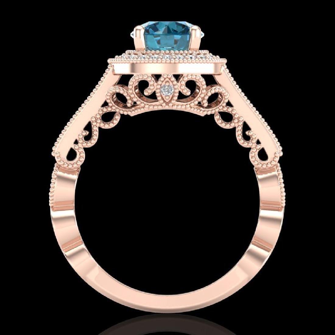 1.91 CTW Fancy Intense Blue Diamond Solitaire Art Deco - 3