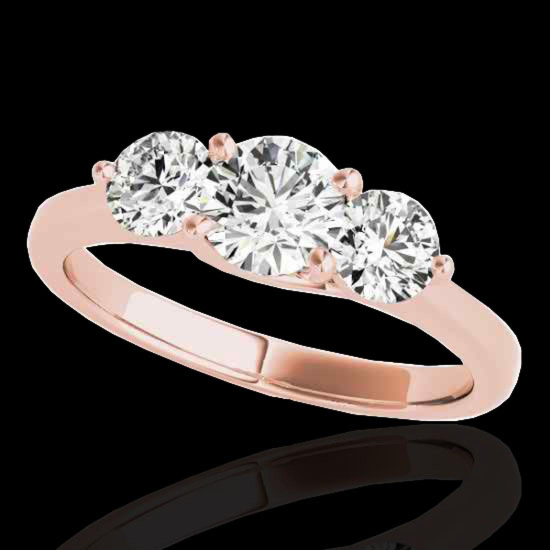 2 CTW H-SI/I Certified Diamond 3 Stone Solitaire Ring
