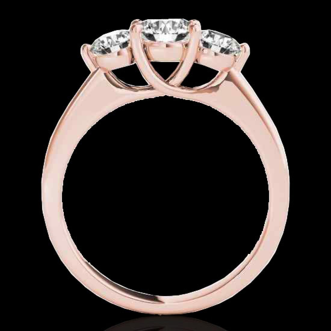 2 CTW H-SI/I Certified Diamond 3 Stone Solitaire Ring - 2