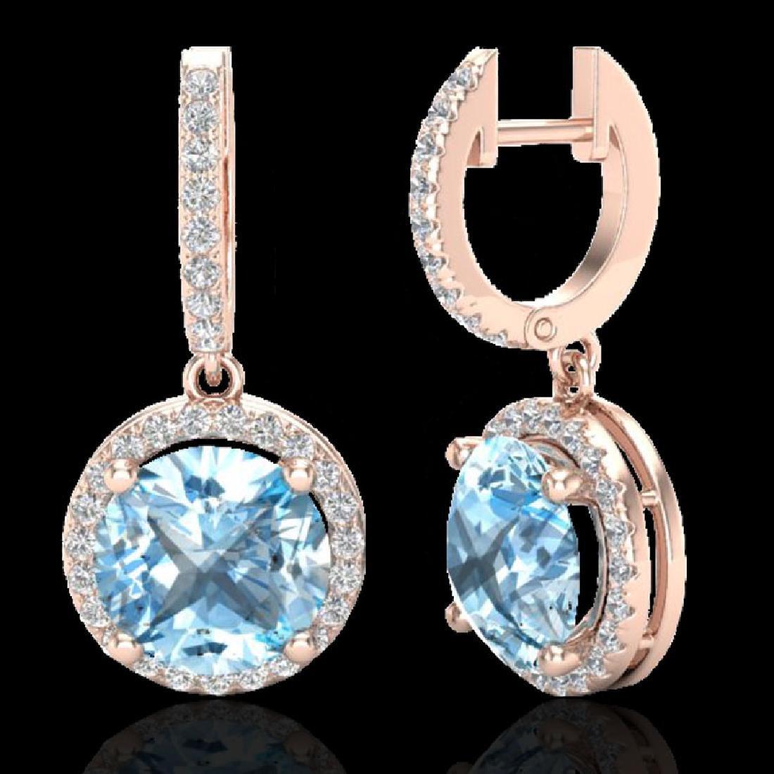 5.50 CTW Sky Blue Topaz & Micro Pave VS/SI Diamond - 2