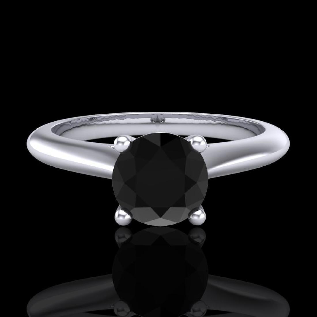 0.83 CTW Fancy Black Diamond Solitaire Engagement Art - 2