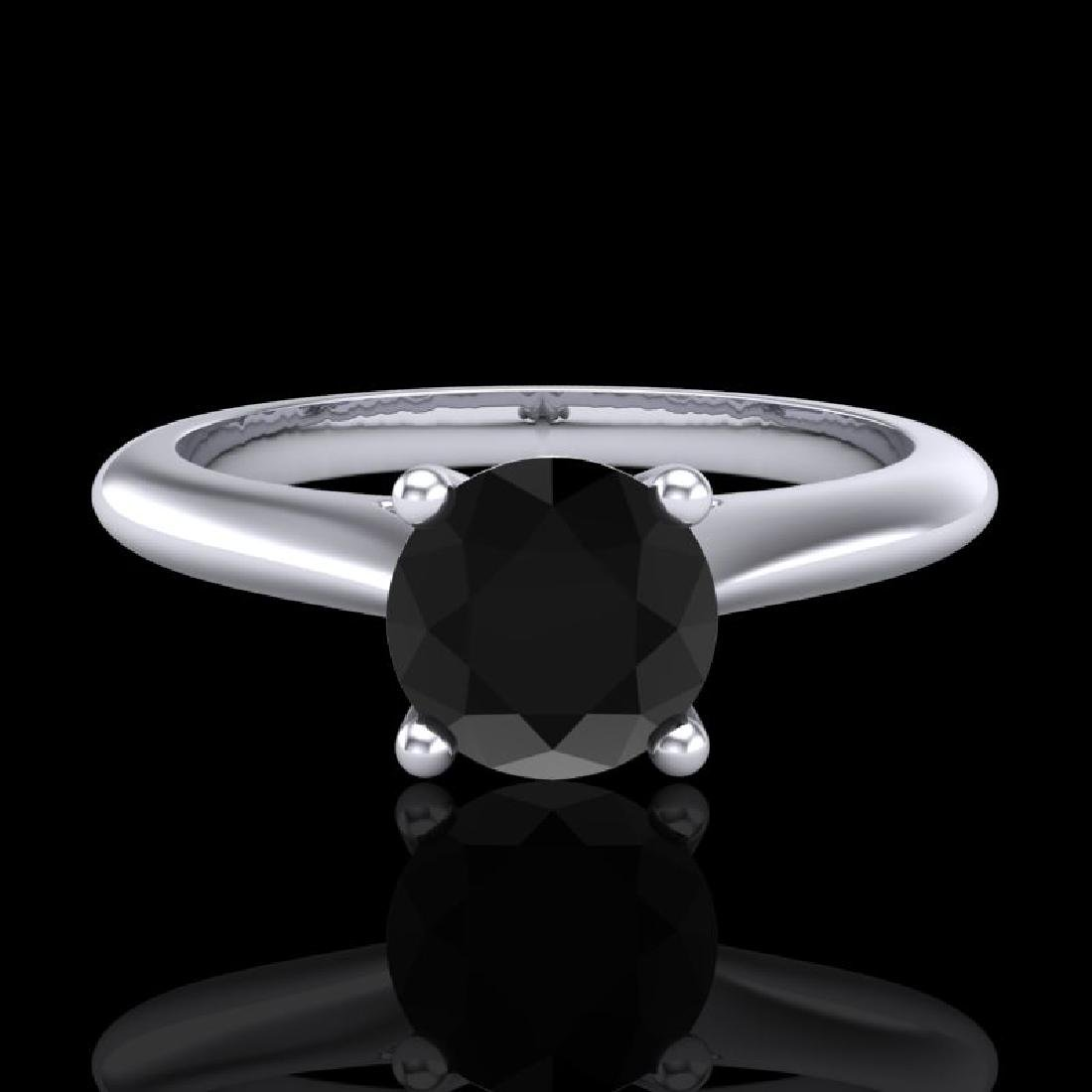 0.83 CTW Fancy Black Diamond Solitaire Engagement Art - 2