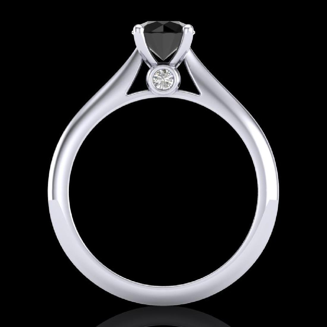 0.83 CTW Fancy Black Diamond Solitaire Engagement Art - 3