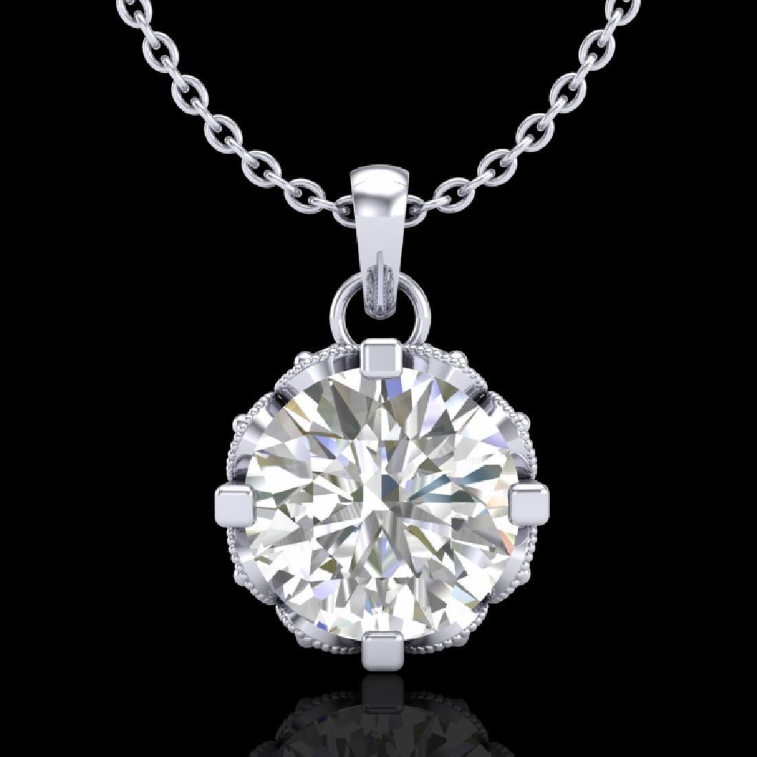 1.14 CTW VS/SI Diamond Solitaire Art Deco Stud Necklace