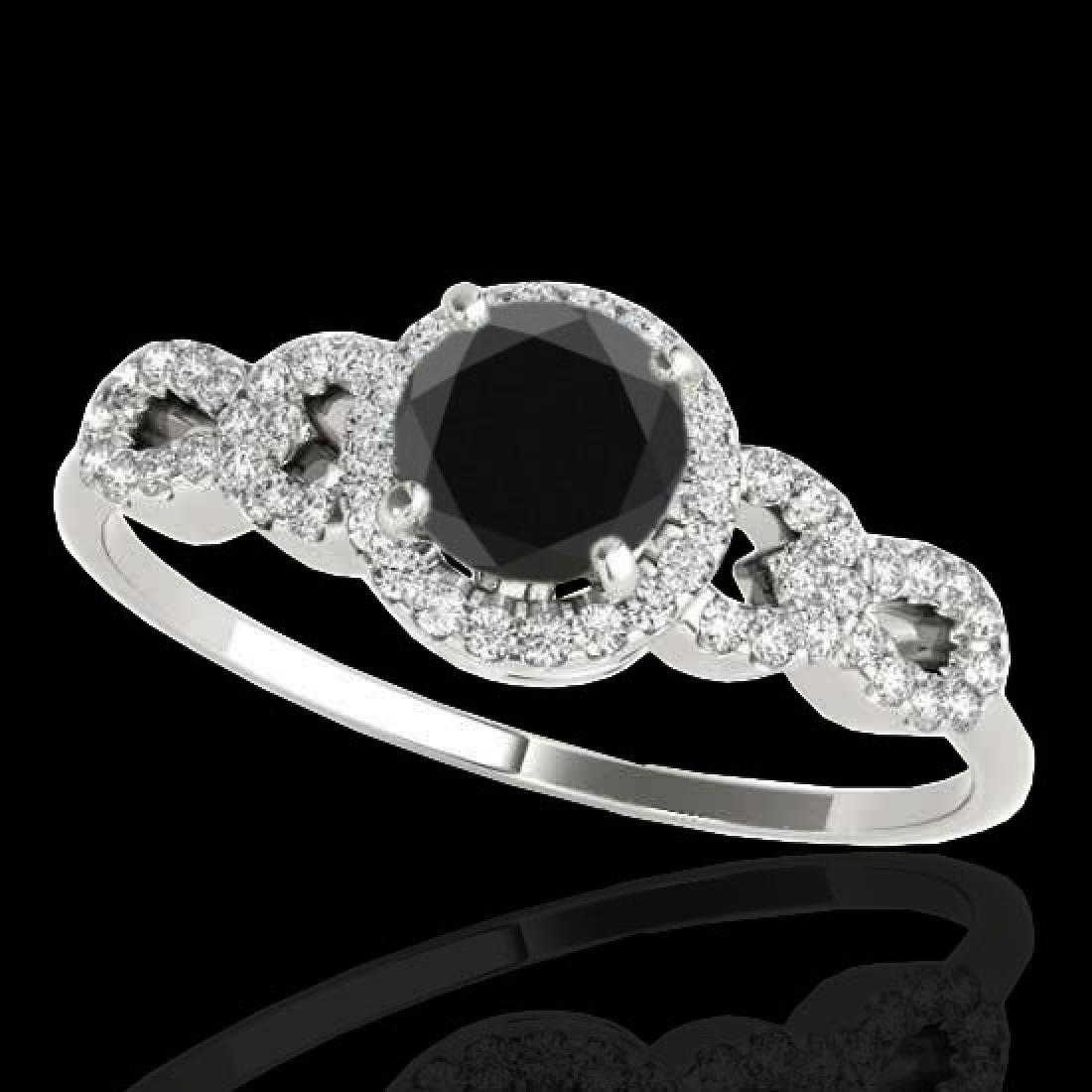 1.33 CTW Certified VS Black Diamond Solitaire Ring 10K