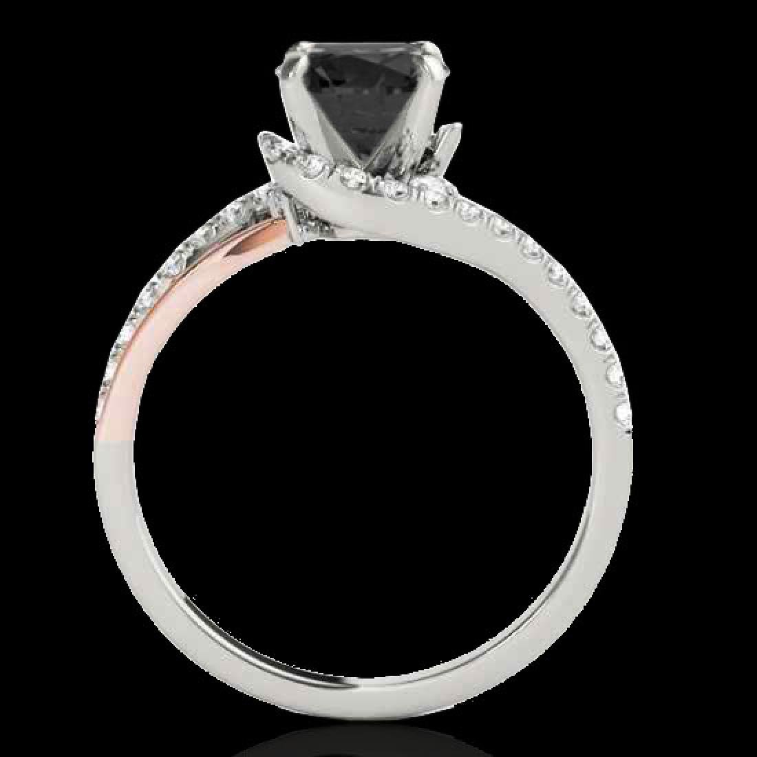 1.35 CTW Certified VS Black Diamond Bypass Solitaire - 2