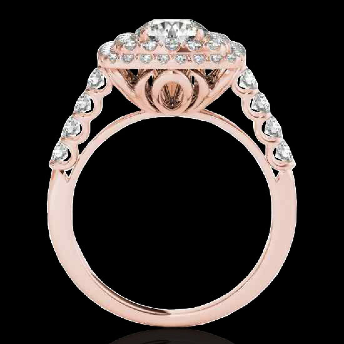 2.05 CTW H-SI/I Certified Diamond Solitaire Halo Ring - 2