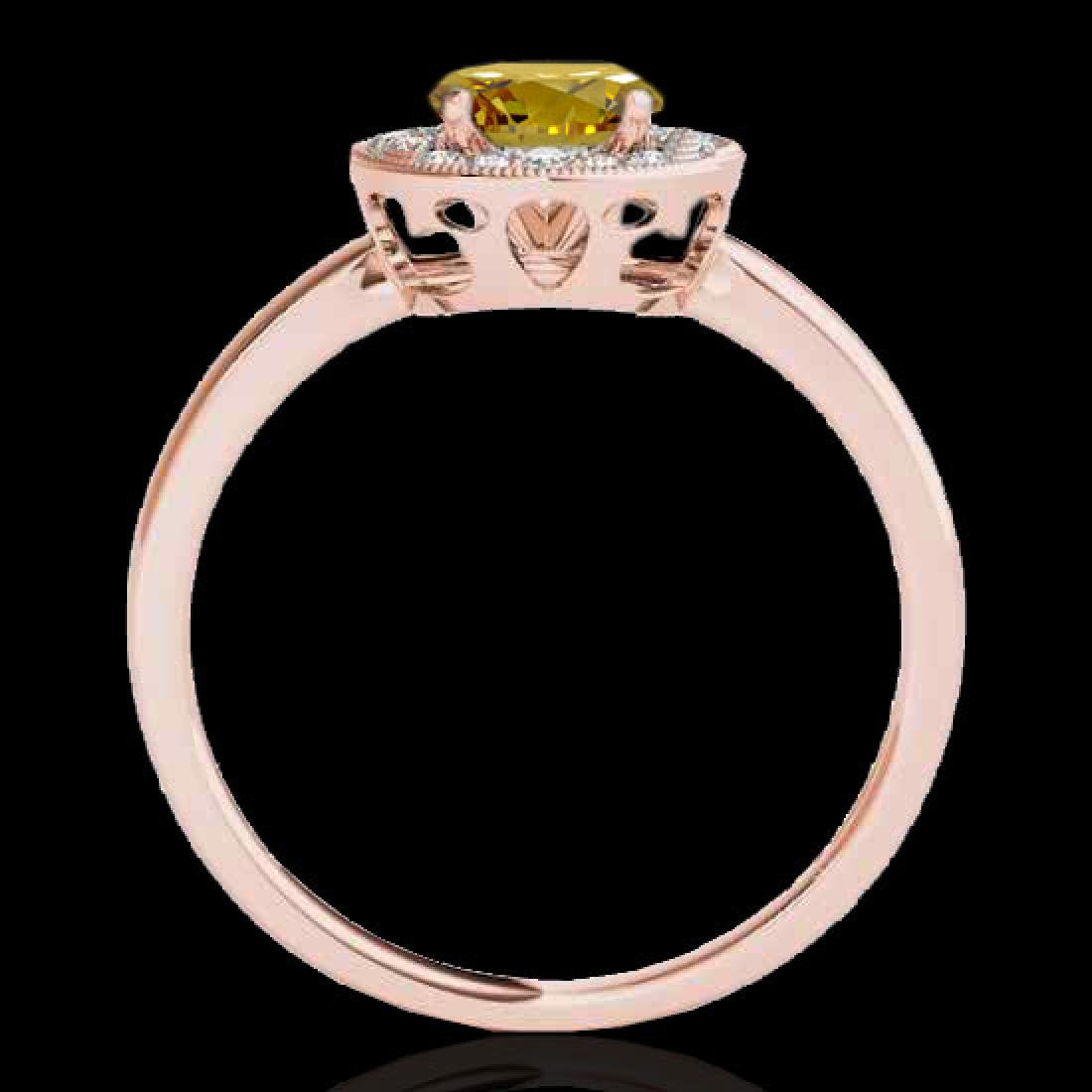 1.15 CTW Certified SI/I Fancy Intense Yellow Diamond - 2