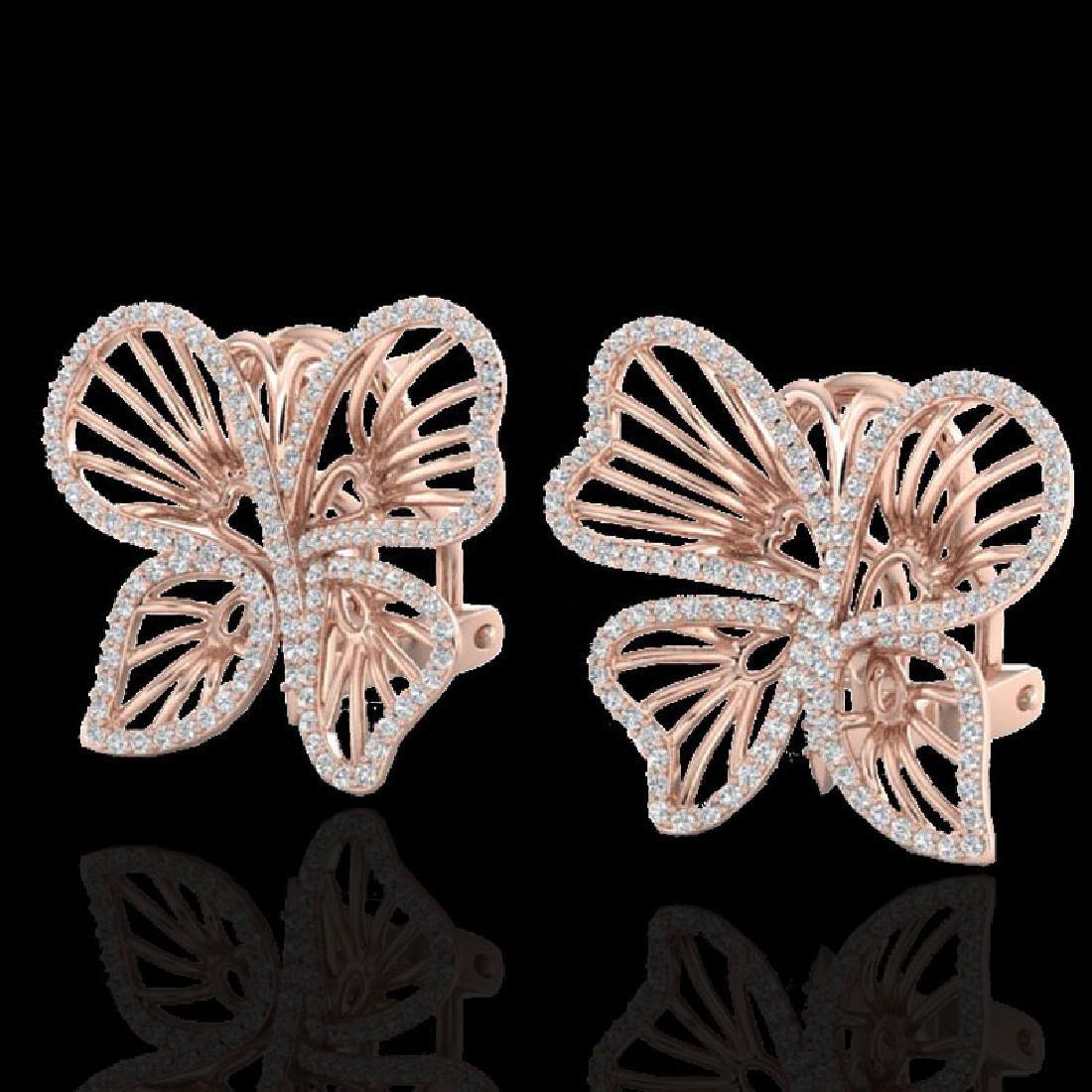 1.25 CTW Designer Micro Butterfly VS/SI Diamond