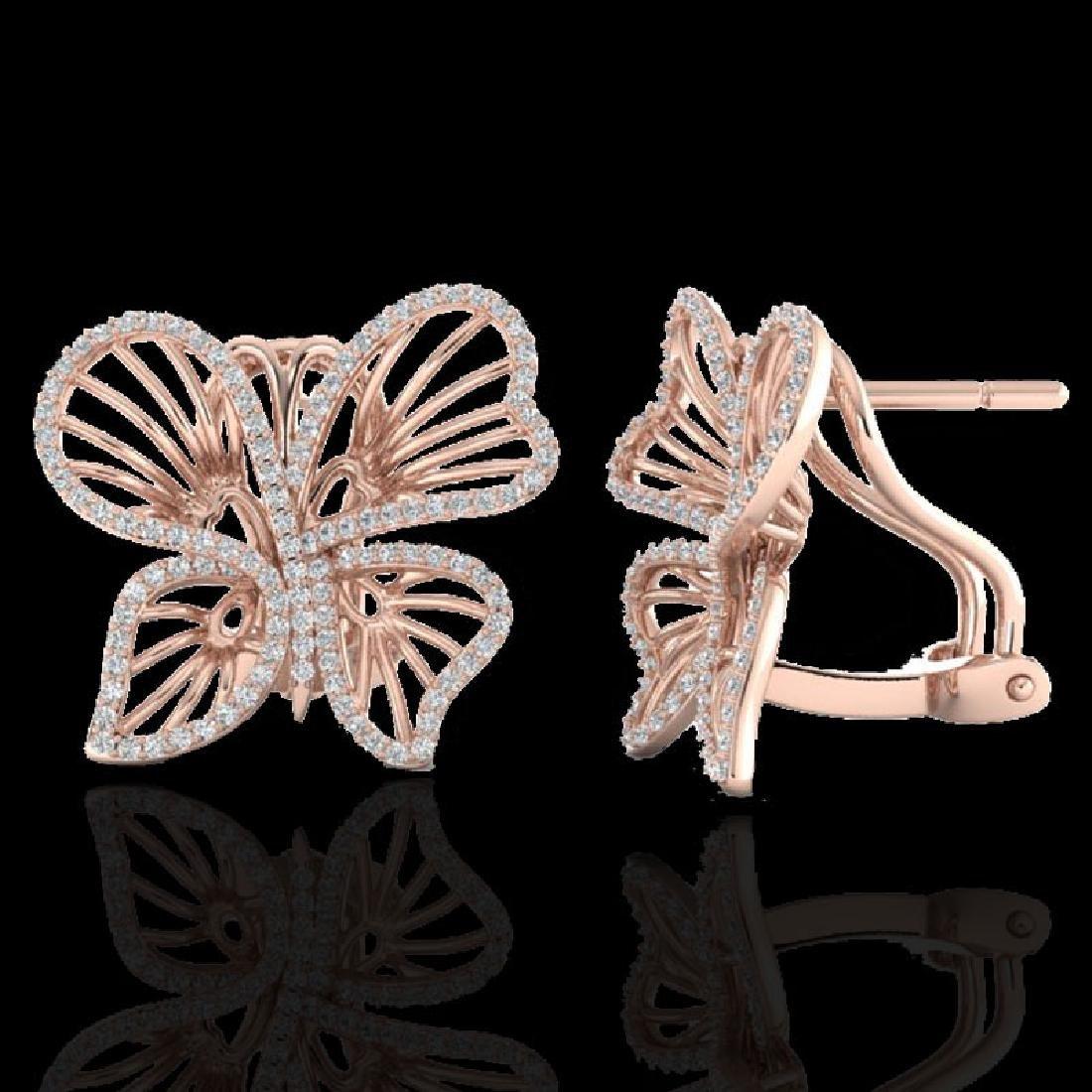 1.25 CTW Designer Micro Butterfly VS/SI Diamond - 2