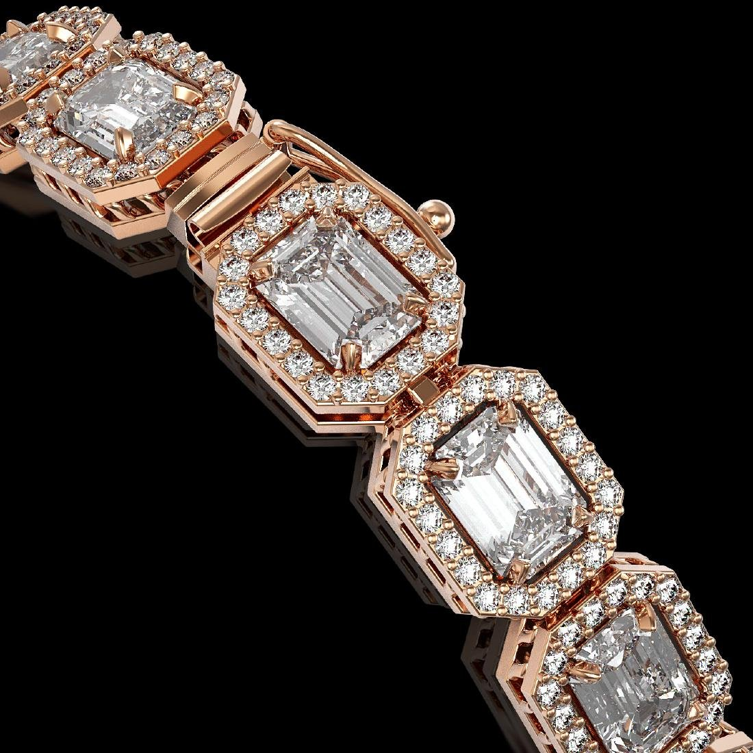 14.57 CTW Emerald Cut Diamond Designer Bracelet 18K - 3