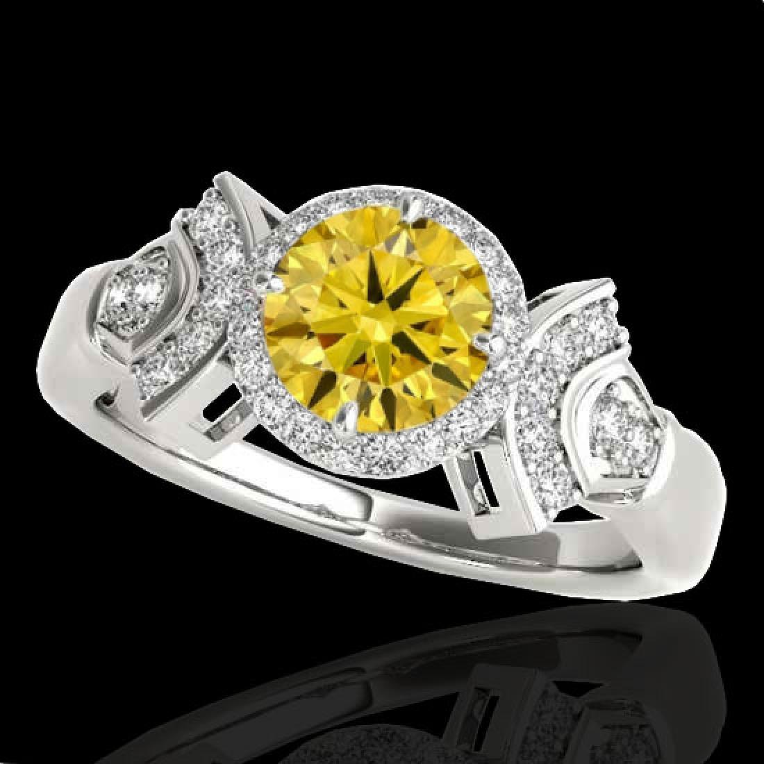 1.56 CTW Certified SI/I Fancy Intense Yellow Diamond