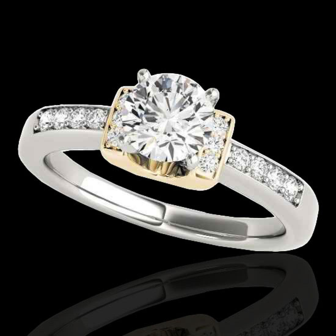 1.11 CTW H-SI/I Certified Diamond Solitaire Ring 10K