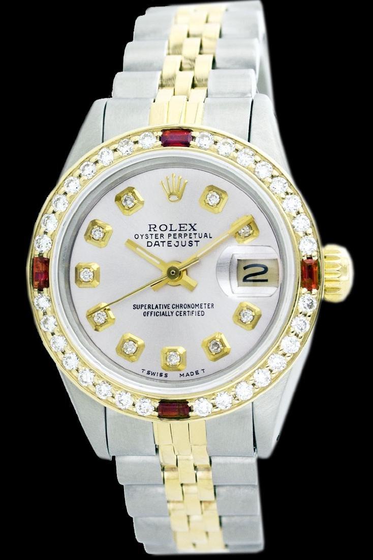 Rolex Men's Two Tone 14K Gold/SS, QuickSet, Diam Dial & - 2
