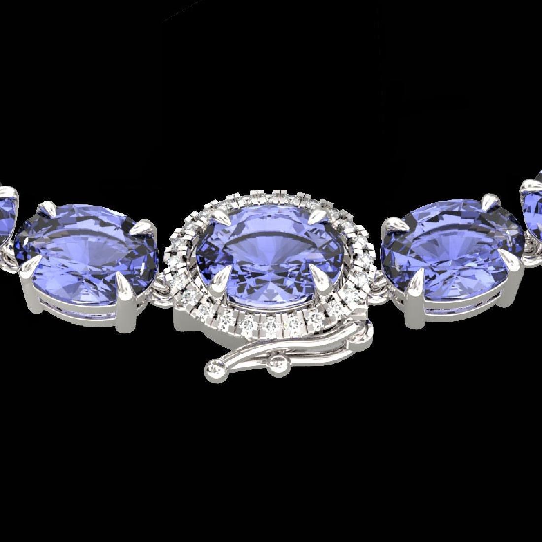 45.25 CTW Tanzanite & VS/SI Diamond Eternity Micro Halo