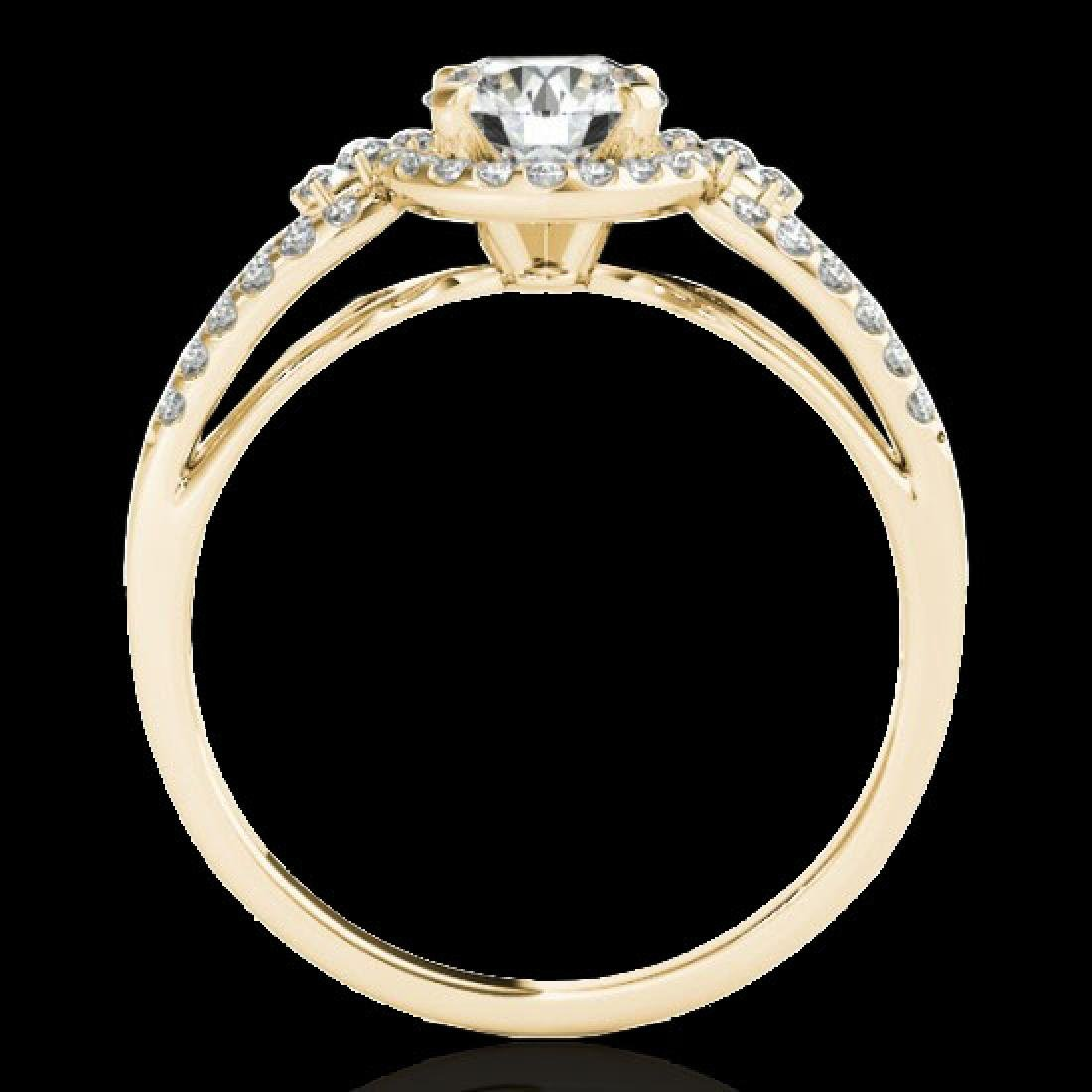 1.25 CTW H-SI/I Certified Diamond Solitaire Halo Ring - 2