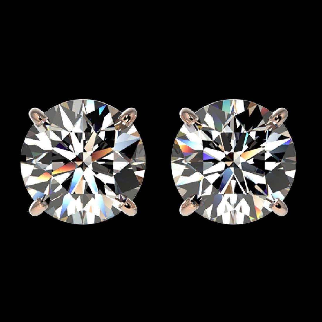 2 CTW Certified H-SI/I Quality Diamond Solitaire Stud