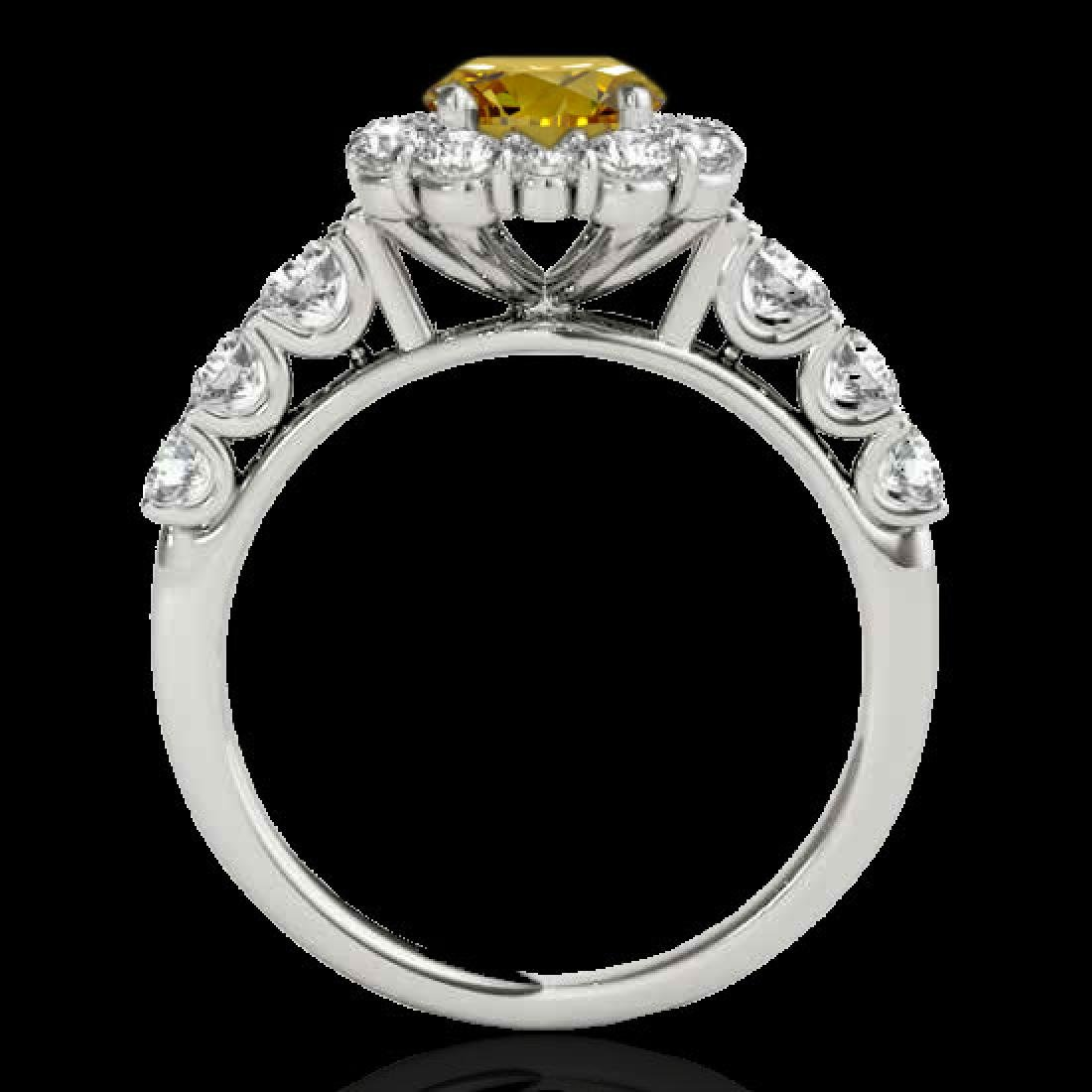 2.25 CTW Certified SI/I Fancy Intense Yellow Diamond - 2
