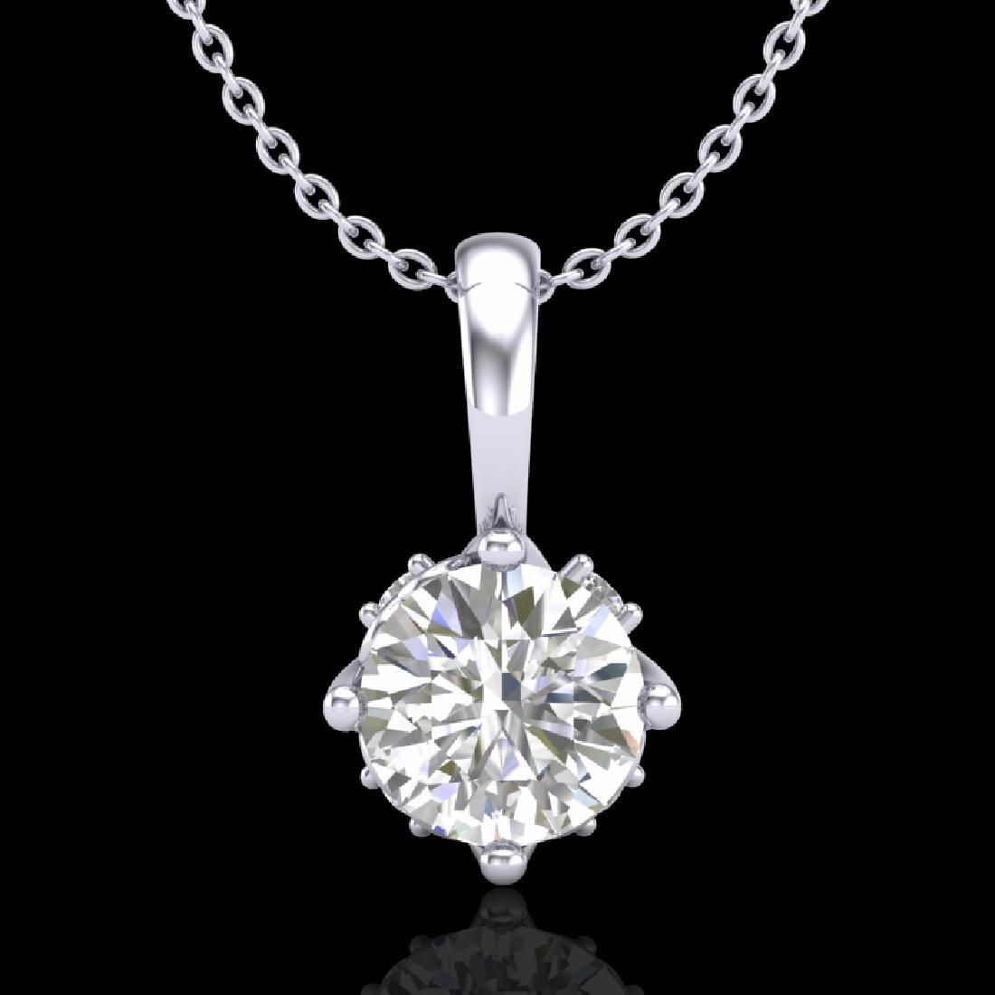 0.62 CTW VS/SI Diamond Solitaire Art Deco Stud Necklace