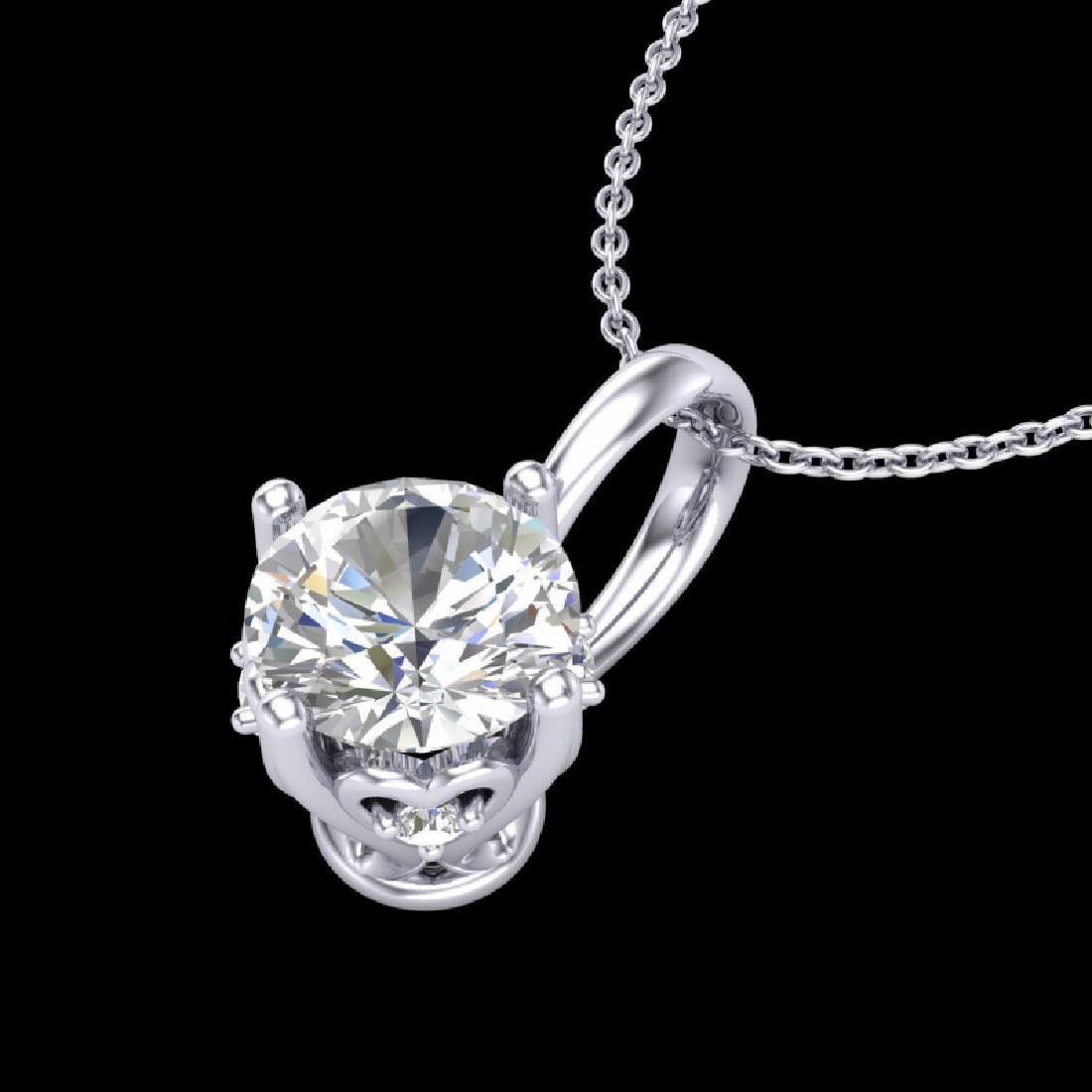 0.62 CTW VS/SI Diamond Solitaire Art Deco Stud Necklace - 2