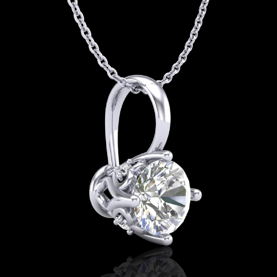 0.62 CTW VS/SI Diamond Solitaire Art Deco Stud Necklace - 3