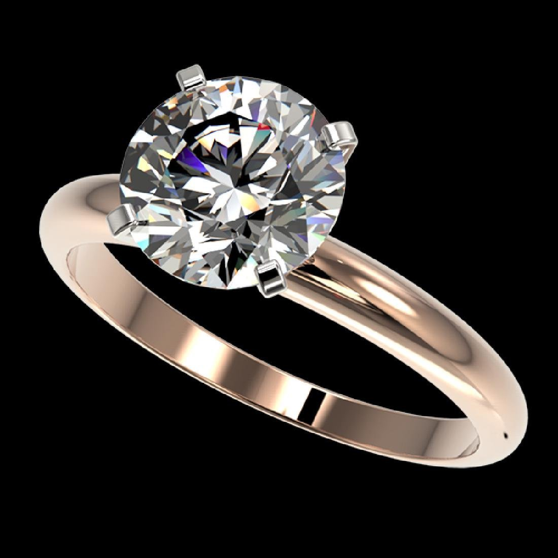 2.50 CTW Certified H-SI/I Quality Diamond Solitaire