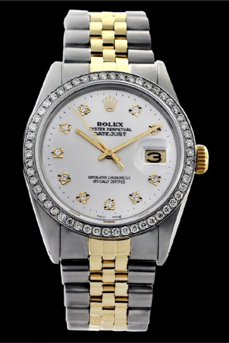 Rolex Men's Two Tone 14K Gold/SS, QuickSet, Diamond - 2
