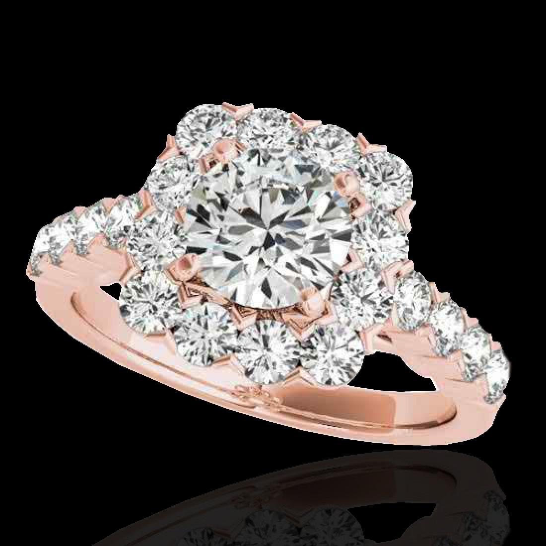 2.5 CTW H-SI/I Certified Diamond Solitaire Halo Ring