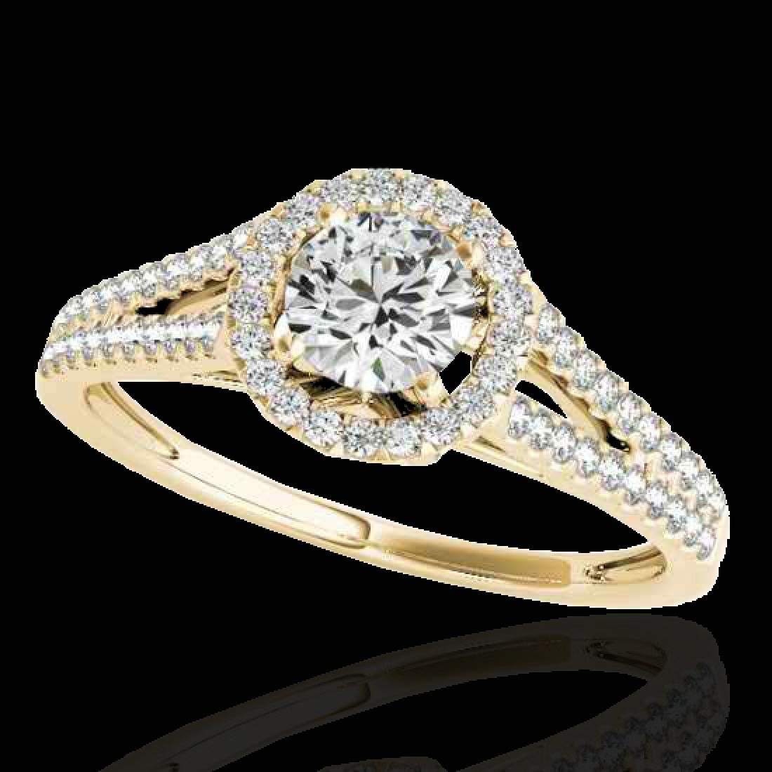1.3 CTW H-SI/I Certified Diamond Solitaire Halo Ring