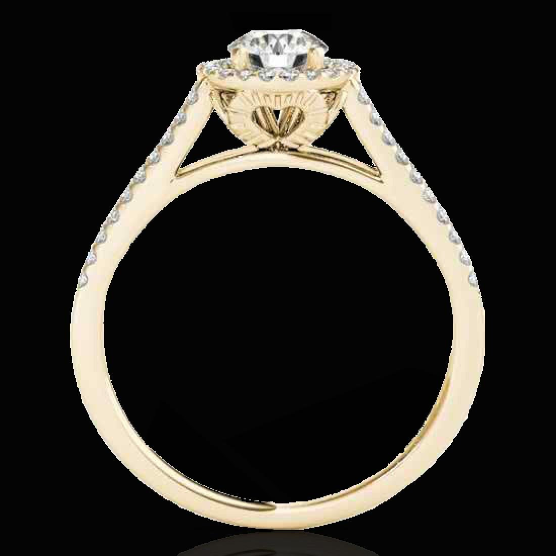 1.3 CTW H-SI/I Certified Diamond Solitaire Halo Ring - 2