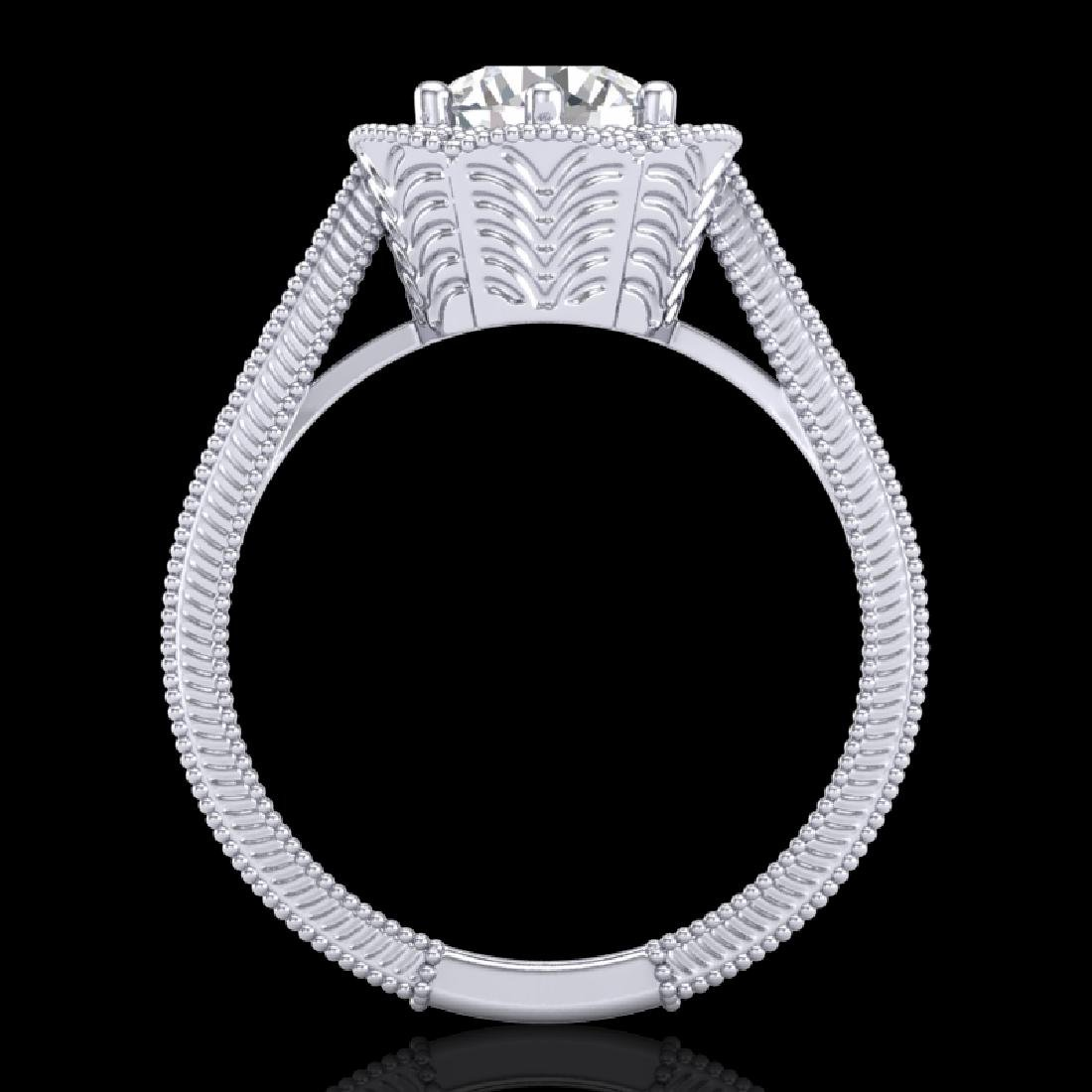 1.33 CTW VS/SI Diamond Solitaire Art Deco Ring 18K