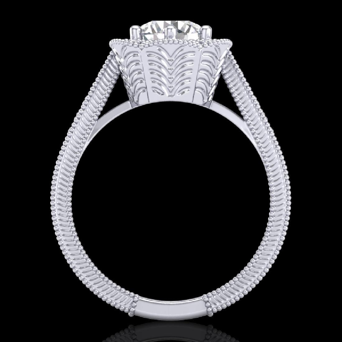 1.33 CTW VS/SI Diamond Solitaire Art Deco Ring 18K
