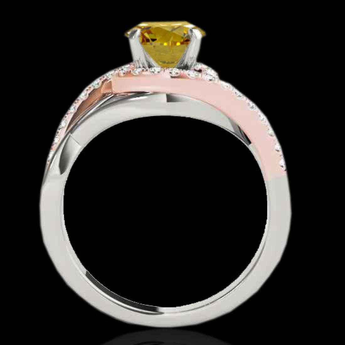1.55 CTW Certified Si Fancy Diamond Bypass Solitaire - 2