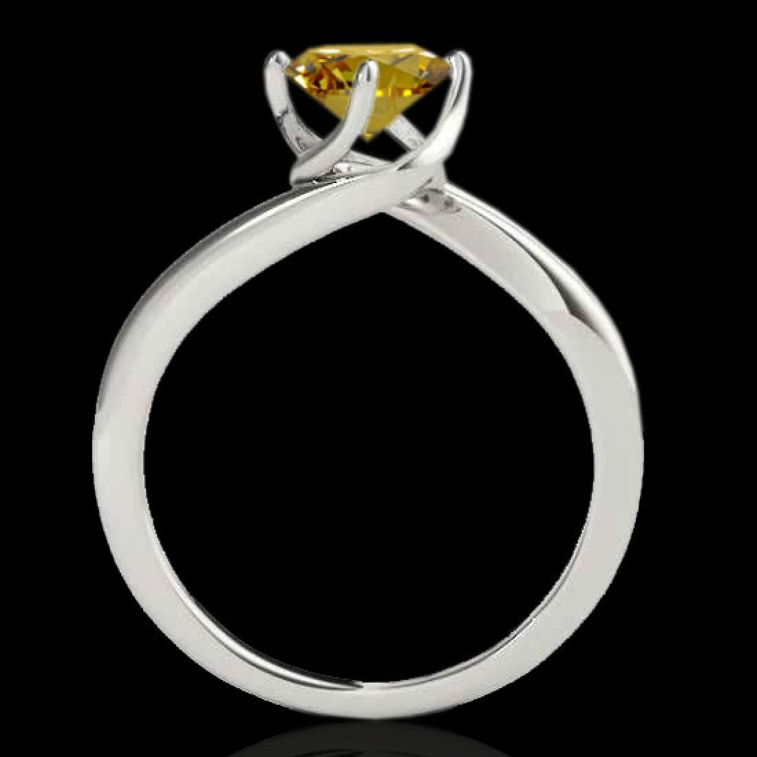 1 CTW Certified SI/I Fancy Intense Yellow Diamond - 2