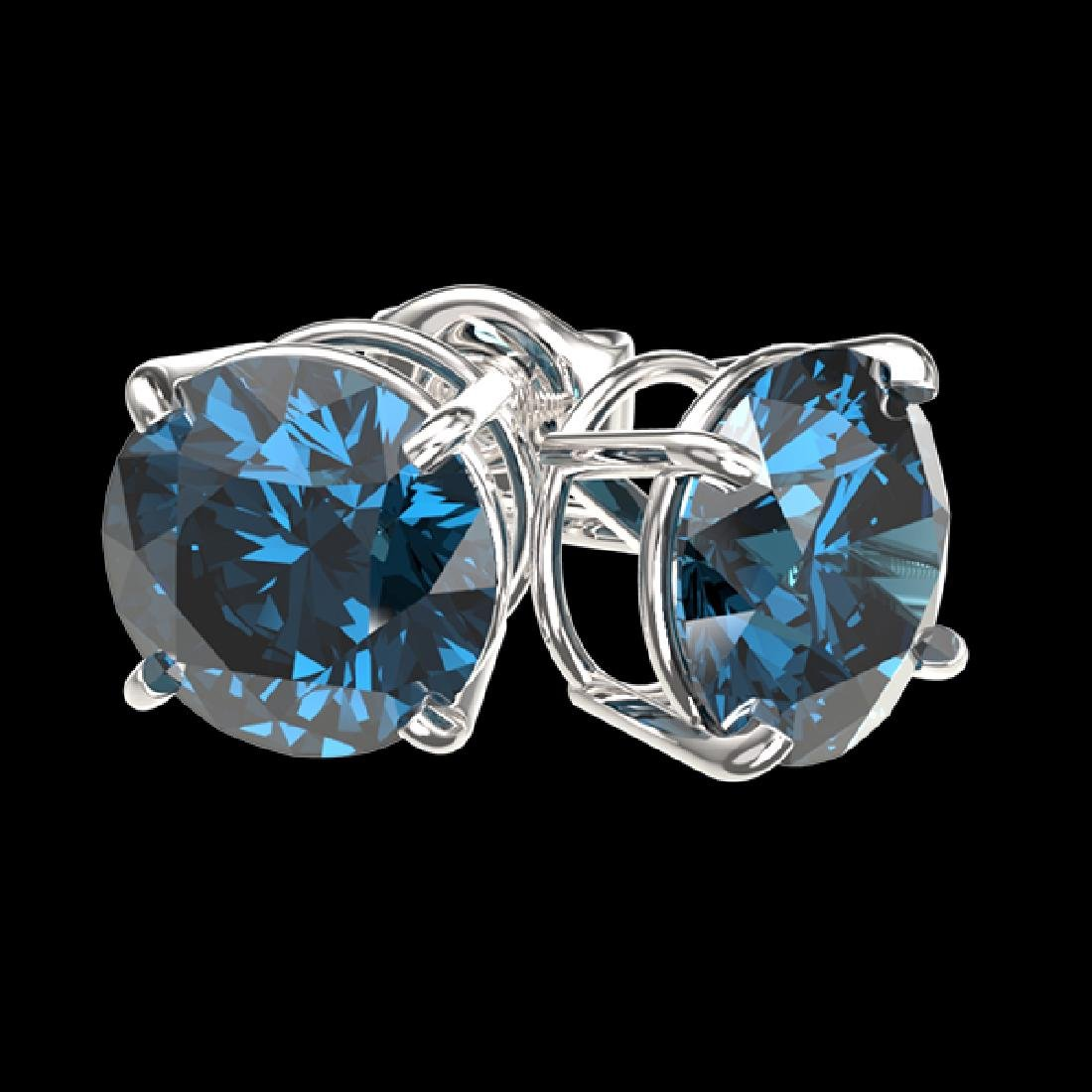 2.14 CTW Certified Intense Blue SI Diamond Solitaire - 3