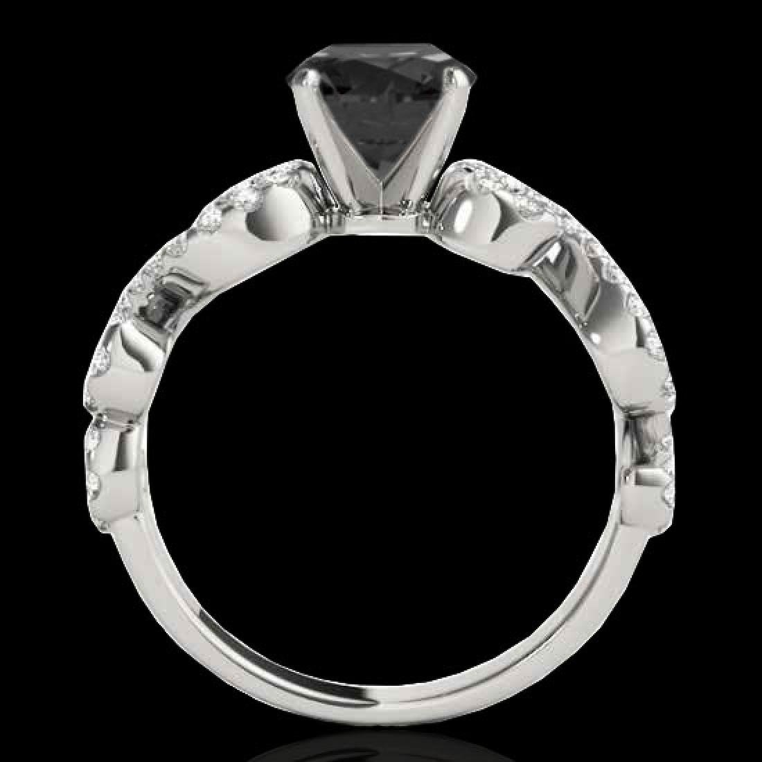 1.4 CTW Certified VS Black Diamond Solitaire Ring 10K - 2
