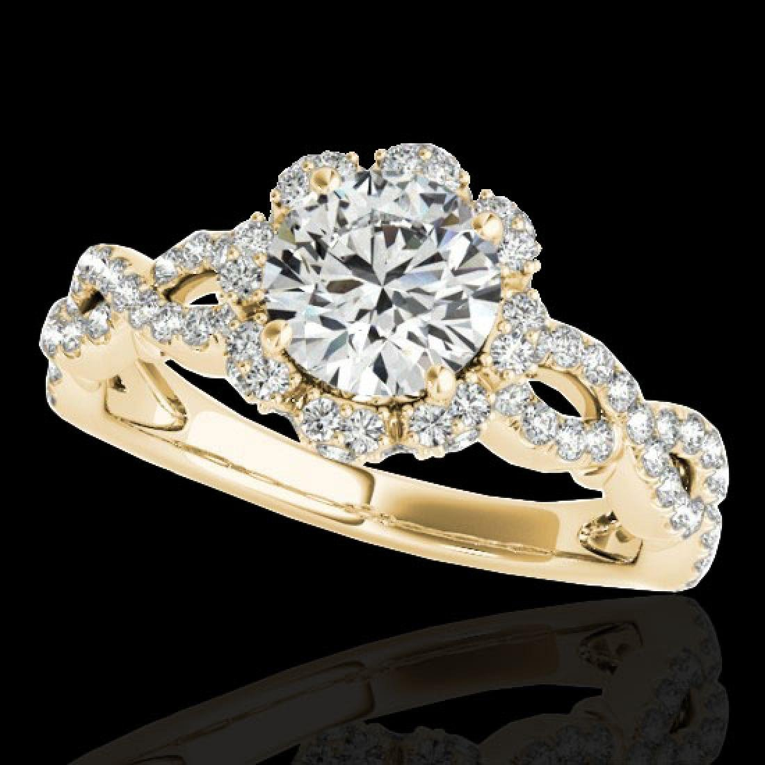 1.69 CTW H-SI/I Certified Diamond Solitaire Halo Ring