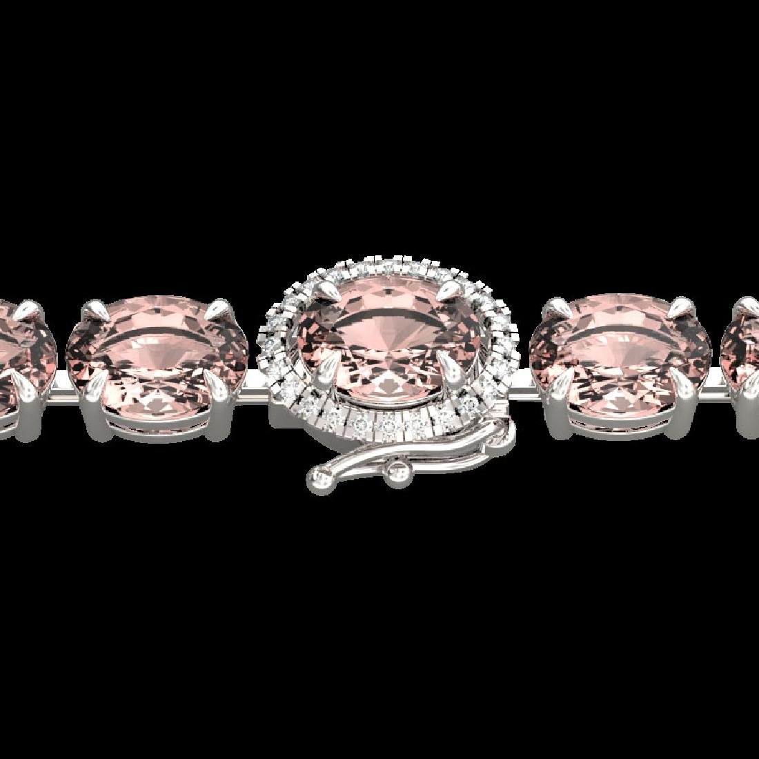 26 CTW Morganite & VS/SI Diamond Tennis Micro Halo