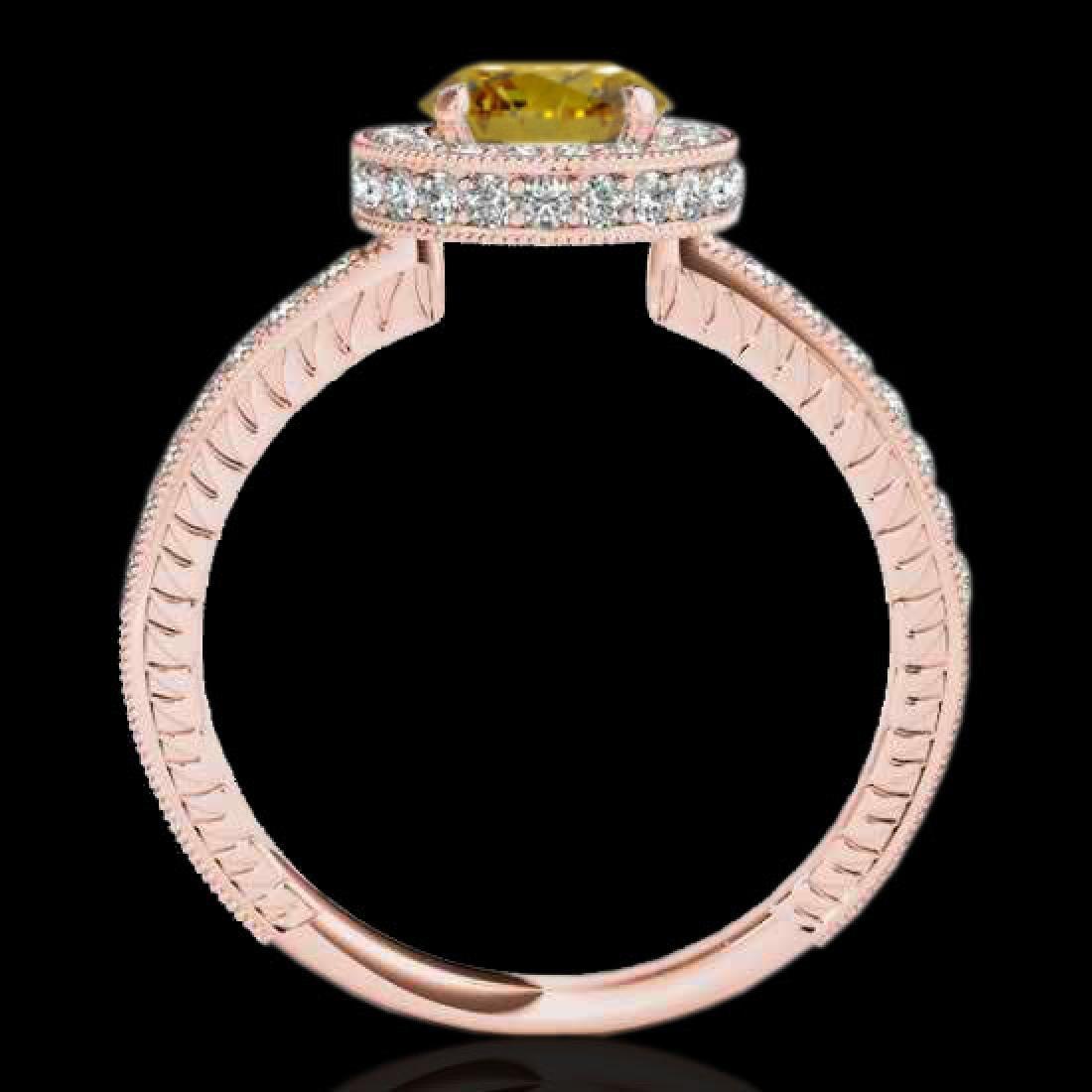 1.51 CTW Certified SI/I Fancy Intense Yellow Diamond - 2