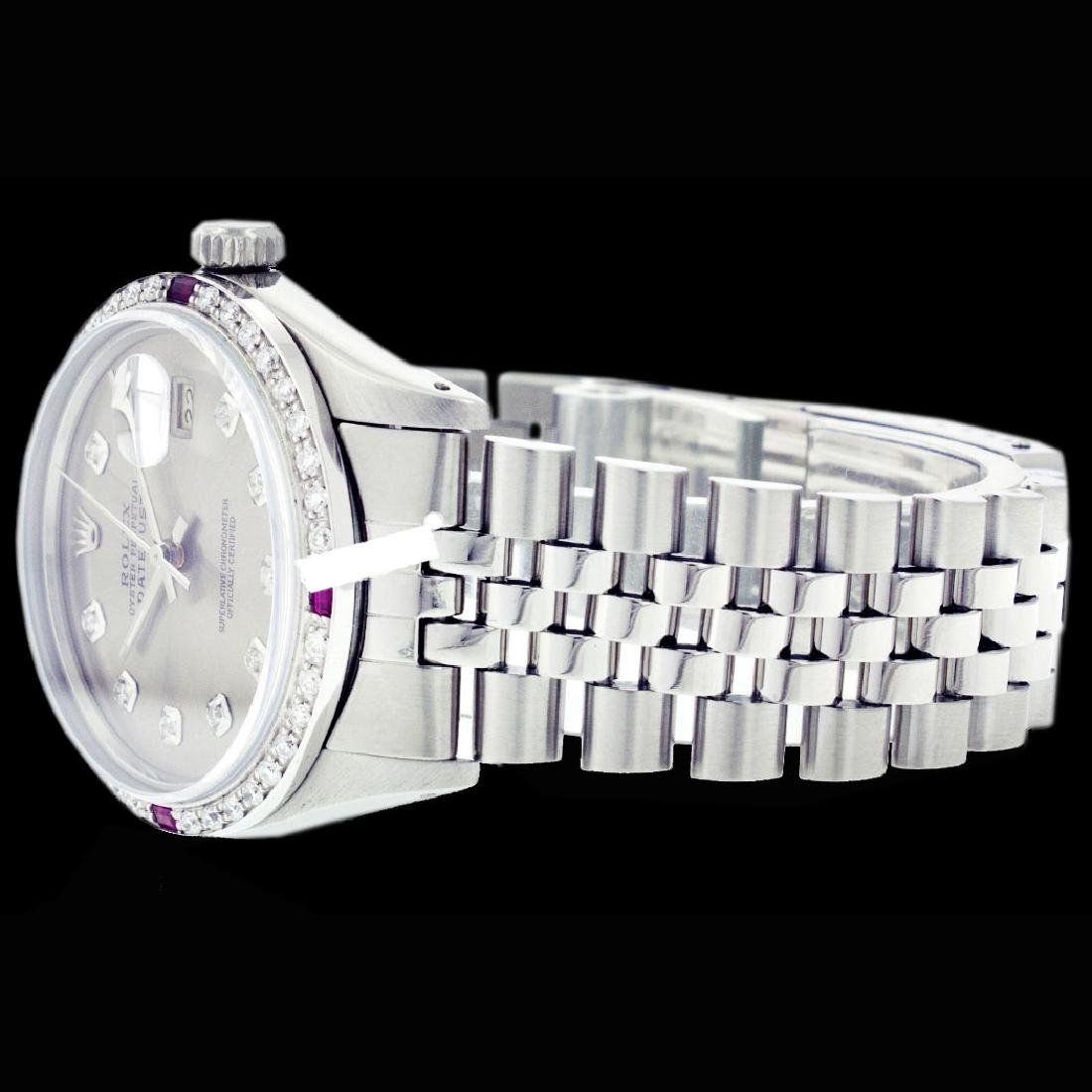 Rolex Ladies Stainless Steel, Diam Dial & Diam/Ruby - 4