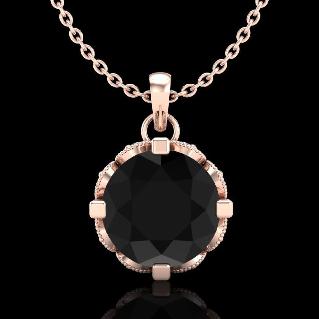 1.5 CTW Fancy Black Diamond Solitaire Art Deco Stud