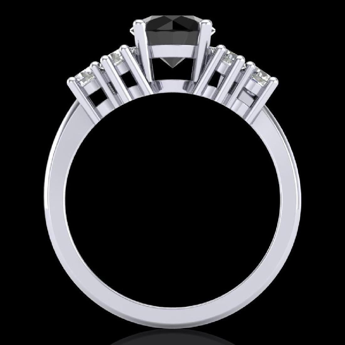 2.1 CTW Fancy Black Diamond Solitaire Engagement - 3