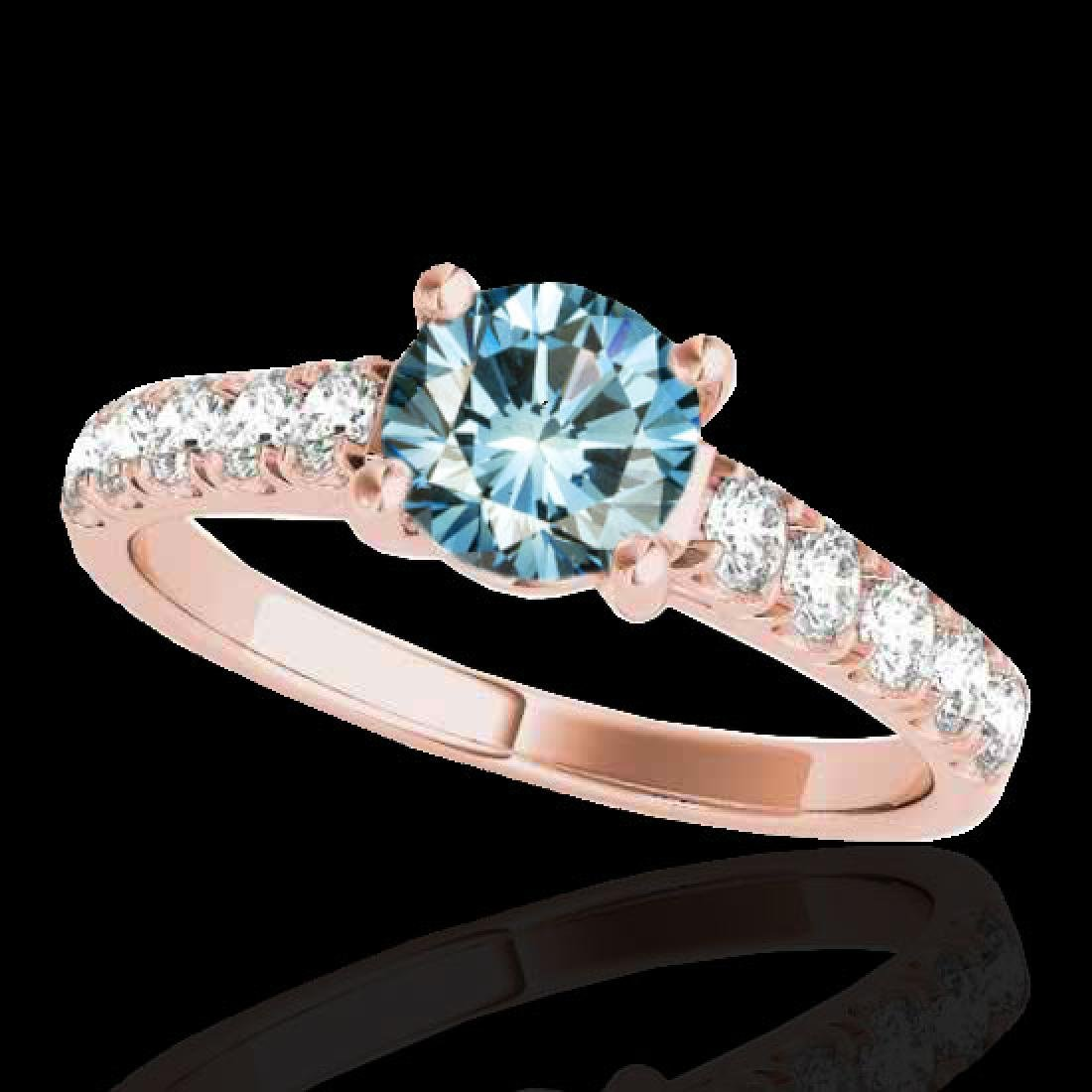 2.1 CTW SI Certified Fancy Blue Diamond Solitaire Ring
