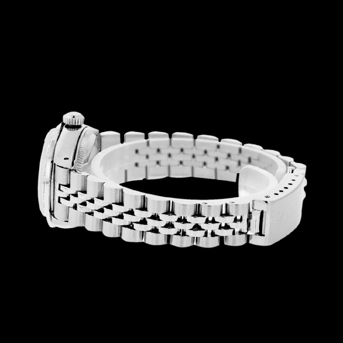 Rolex Men's Stainless Steel, QuickSet, Diam/Emerald - 3