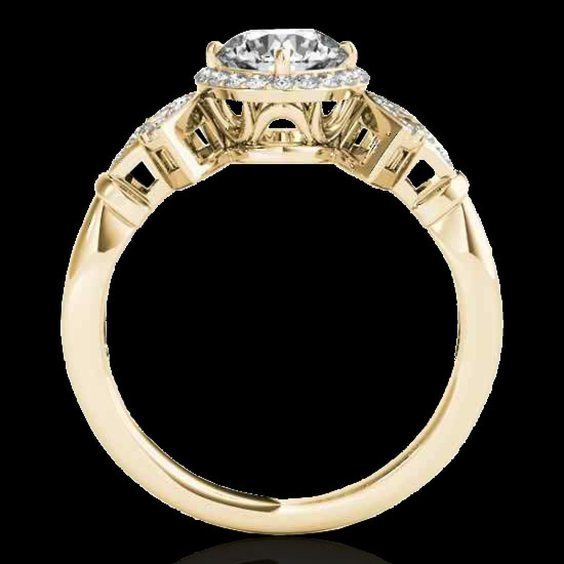 1.56 CTW H-SI/I Certified Diamond Solitaire Halo Ring - 2