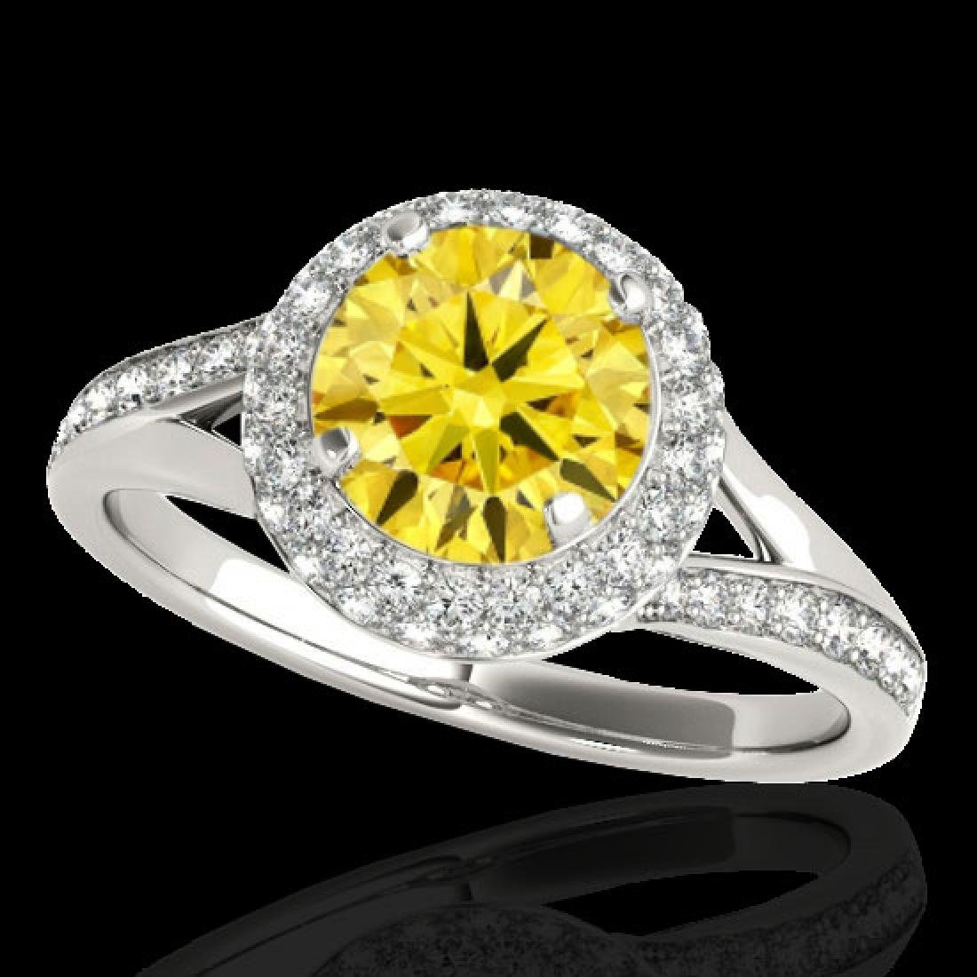 1.85 CTW Certified SI/I Fancy Intense Yellow Diamond